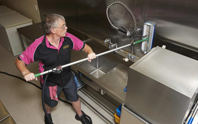 Commercial cleaning of a kitchen